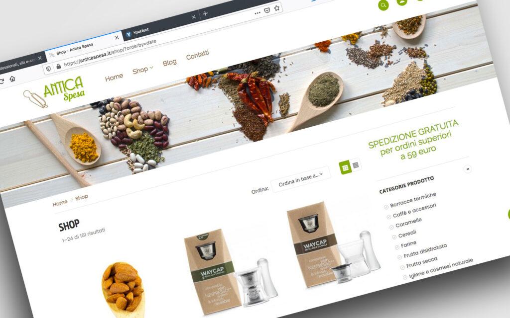 Sito e-commerce per Spezie e Alimentari Sfusi