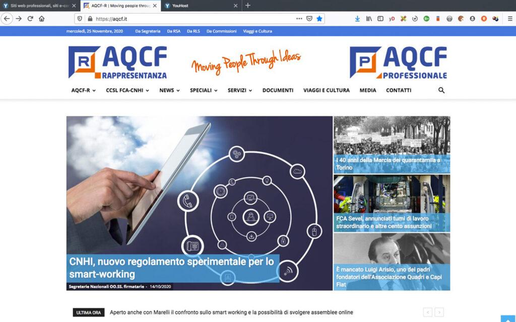Sito internet Associazione Quadri e Capi