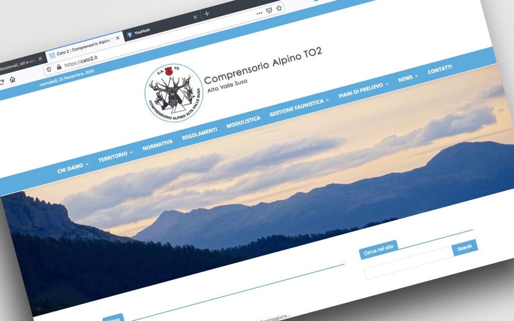 Sito web per Ente della Regione Piemonte