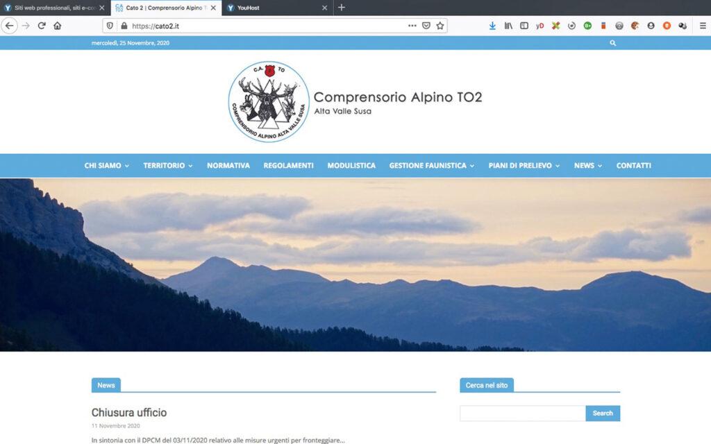Sito Web per Ente Regione Piemonte